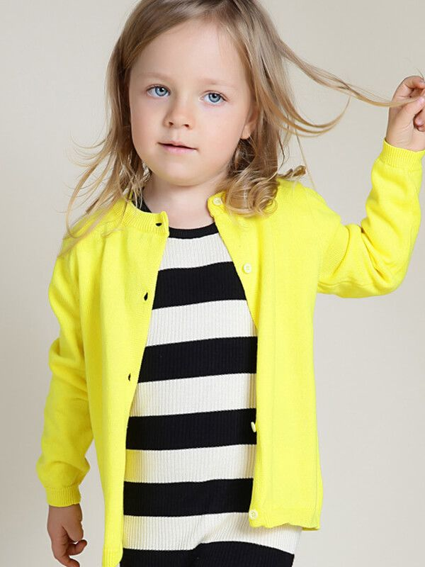 kiskissing wholesale buttoned knitted sweater cardigan top for baby toddler girls boys